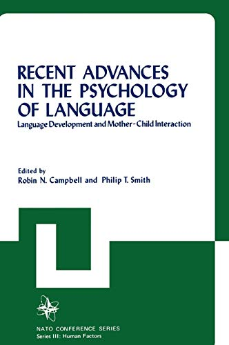 9780306328848: 004: Recent Advances in the Psychology of Language (Nato Conference Series)