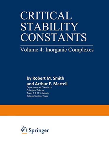 9780306352140: Critical Stability Constants, Vol. 4: Inorganic Complexes