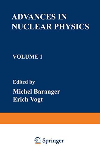 9780306391019: Advances in Nuclear Physics: Volume 1