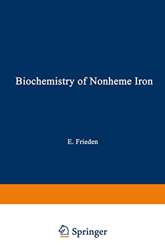 9780306405013: Biochemistry of Nonheme Iron (Biochemistry of the Elements)