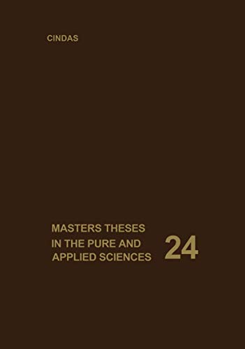 9780306406980: Masters Theses in the Pure and Applied Sciences: Accepted by Colleges and Universities of the United States and Canada. Volume 24