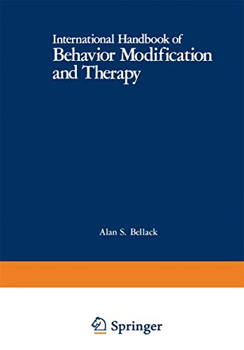 9780306407772: International Handbook of Behavior Modification and Therapy