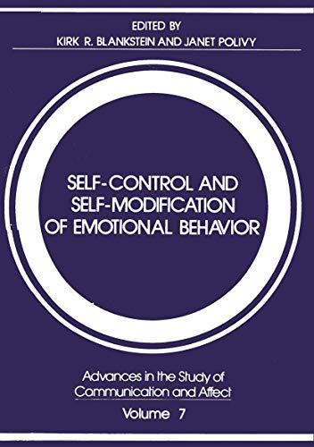9780306409455: Self-Control and Self-Modification of Emotional Behavior