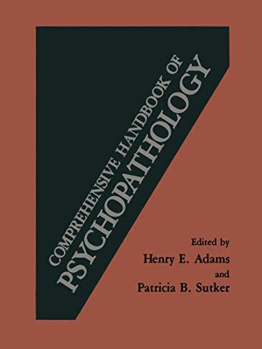 9780306412226: Comprehensive Handbook of Psychopathology