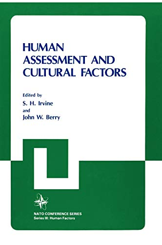 9780306412776: Human Assessment and Cultural Factors (Nato Conference Series)