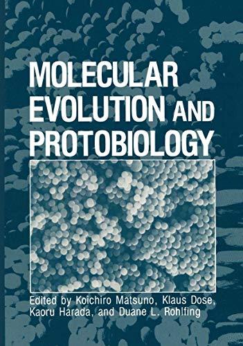 9780306415098: Molecular Evolution and Protobiology