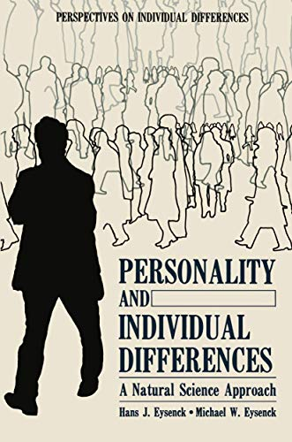9780306418440: Personality and Individual Differences: A Natural Science Approach (Perspectives on Individual Differences)