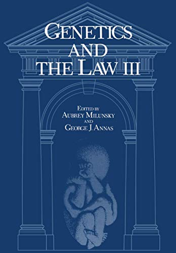 Genetics and the law III.: Milunsky, Aubrey (ed.)