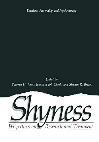 9780306420337: Shyness: Perspectives on Research and Treatment (Emotions, Personality, and Psychotherapy)