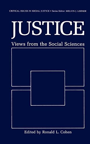9780306422560: Justice: Views from the Social Sciences (Critical Issues in Social Justice)