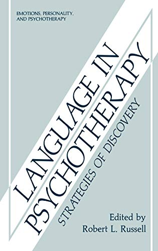 9780306424229: Language in Psychotherapy: Strategies of Discovery (Emotions, Personality, and Psychotherapy)