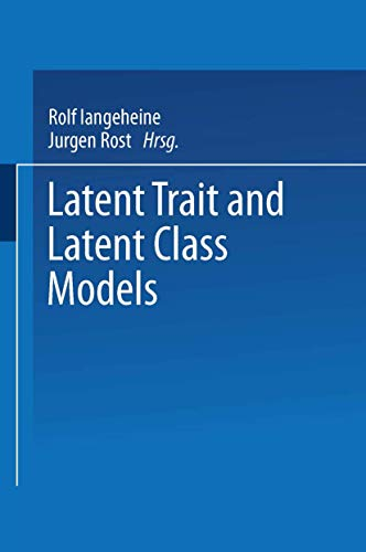9780306427275: Latent Trait and Latent Class Models