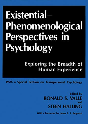 9780306430442: Existential-Phenomenological Perspectives in Psychology: Exploring the Breadth of Human Experience, With a Special Section on Transpersonal Psychology