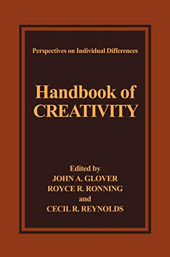 Handbook of Creativity (Perspectives on Individual Differences): Glover, John A.