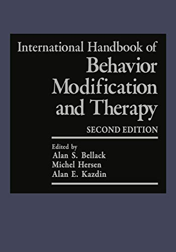 9780306433481: International Handbook of Behavior Modification and Therapy: Second Edition