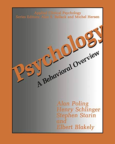 9780306434327: Psychology: A Behavioral Overview (Nato Science Series B:)