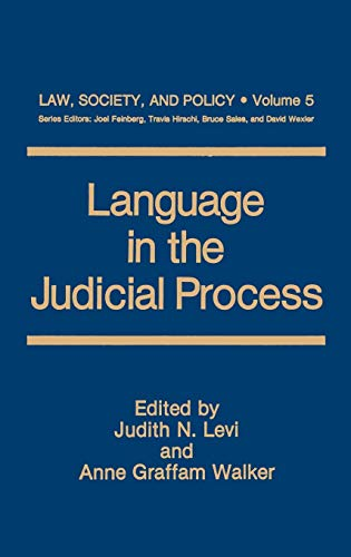 9780306435515: Language in the Judicial Process (Law, Society and Policy)