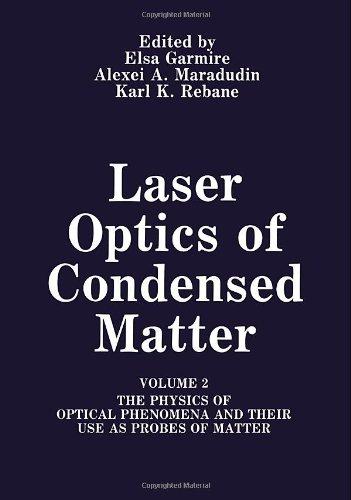 Laser Optics of Condensed Matter (Physics of: Editor-E. Garmire; Editor-A.A.