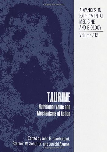 9780306442247: Taurine: Nutritional Value and Mechanisms of Action (Language of Science) (No. 1)