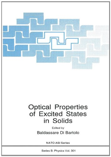 Optical Properties of Excited States in Solids (NATO Science Series B: Physics) di Bartolo, ...