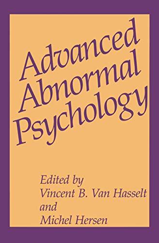 9780306445477: Advanced Abnormal Psychology