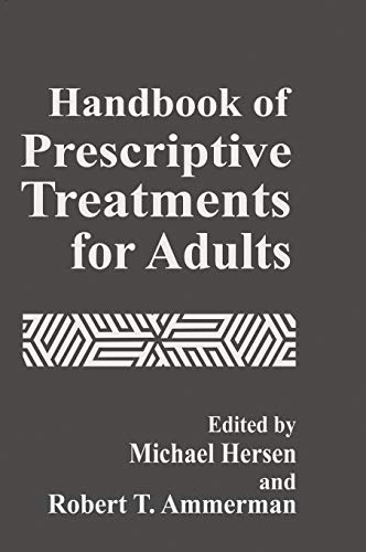 Handbook of Prescriptive Treatments for Adults