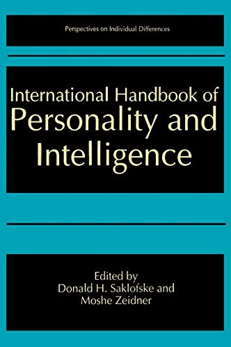 9780306447495: International Handbook of Personality and Intelligence (Perspectives on Individual Differences)