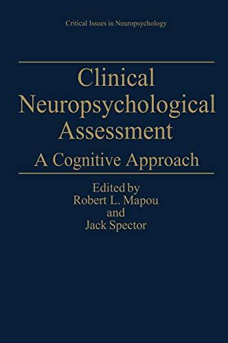 9780306448690: Clinical Neuropsychological Assessment: A Cognitive Approach