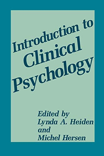 9780306448775: Introduction to Clinical Psychology