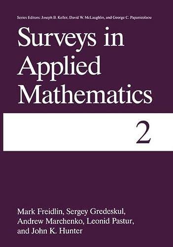 9780306450600: Surveys in Applied Mathematics: Volume 2