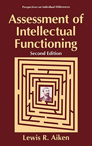 9780306451522: Assessment of Intellectual Functioning (Perspectives on Individual Differences)