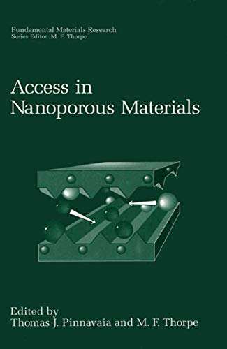 9780306452185: Access in Nanoporous Materials: Proceedings of a Symposium Held in East Lansing, Michigan, June 7-9, 1995 (Fundamental Materials Research)