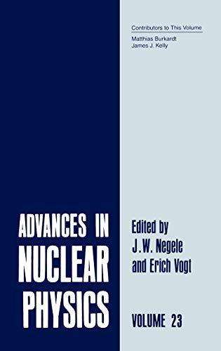 9780306452208: Advances in Nuclear Physics: Volume 23