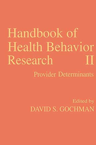 Handbook Of Health Behavior Research (Ii)