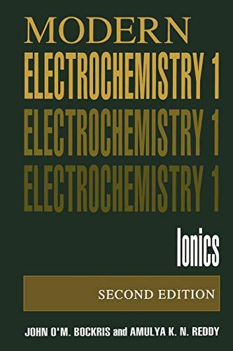 9780306455551: Modern Electrochemistry 1: Ionics, 2nd Edition