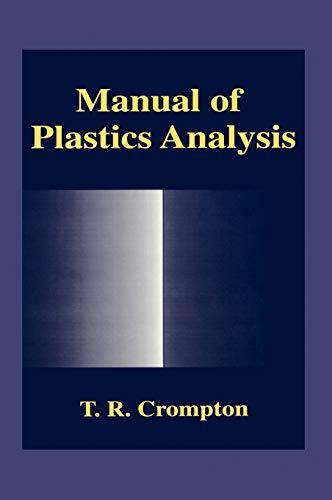 9780306459122: Manual of Plastics Analysis