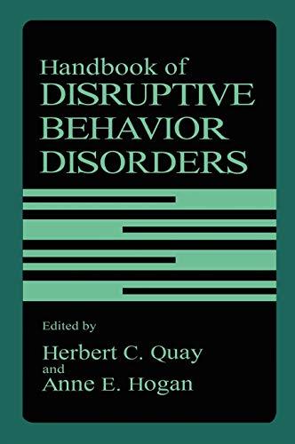 9780306459740: Handbook of Disruptive Behavior Disorders