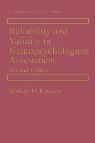 9780306463440: Reliability and Validity in Neuropsychological Assessment (Critical Issues in Neuropsychology)