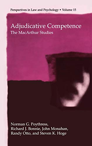 9780306467905: Adjudicative Competence: The MacArthur Studies (Perspectives in Law & Psychology)