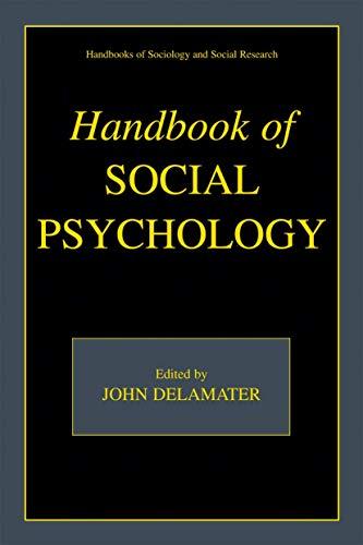 9780306476952: Handbook of Social Psychology (Handbooks of Sociology and Social Research)