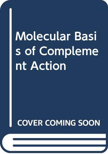 9780306500657: Molecular Basis of Complement Action