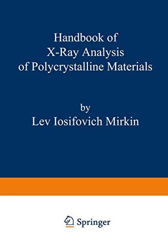 9780306651090: Handbook of X-Ray Analysis of Polycrystalline Materials