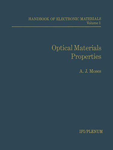 Optical Materials Properties:Handbook of Electronic Materials (Nsrds: Moses, A.