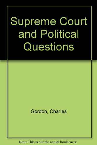 9780306716102: The Supreme Court And Political Questions