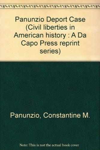 The Deportation Cases of 1919-1920: Panunzio, Constantine M.