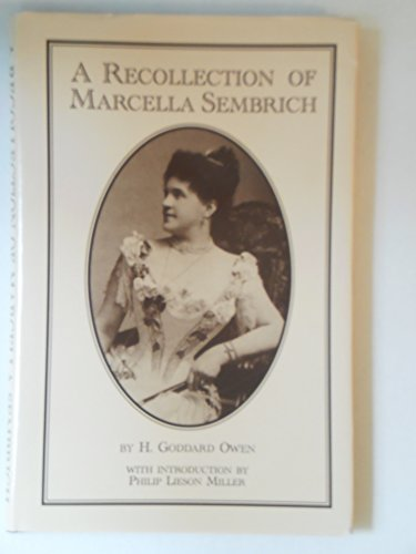 A Recollection of Marcella Sembrich
