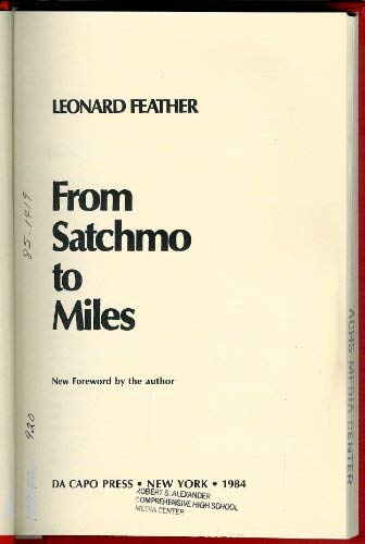 9780306762307: From Satchmo To Miles (The Roots of Jazz)