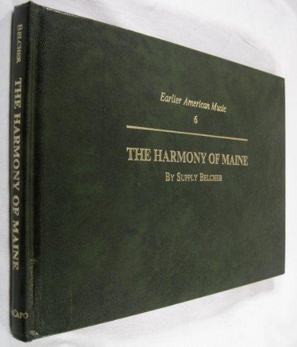 Harmony of Maine: Belcher, Supply