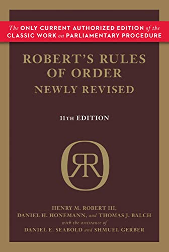 Robert's Rules of Order Newly Revised (Robert's Rules of Order (Paperback))