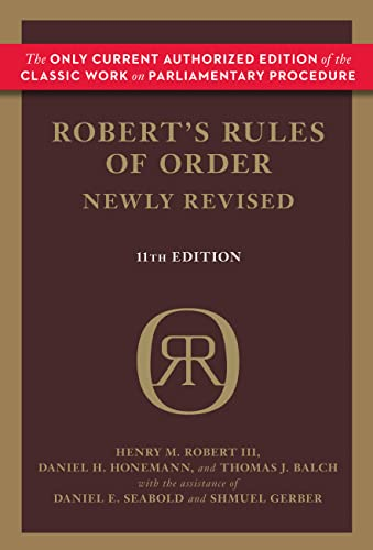 9780306820212: Robert's Rules of Order Newly Revised, 11th edition